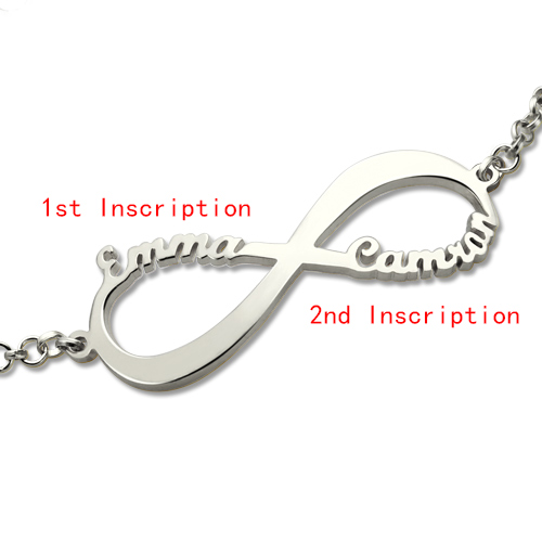 Infinity Symbol Name Bracelet Sterling Silver
