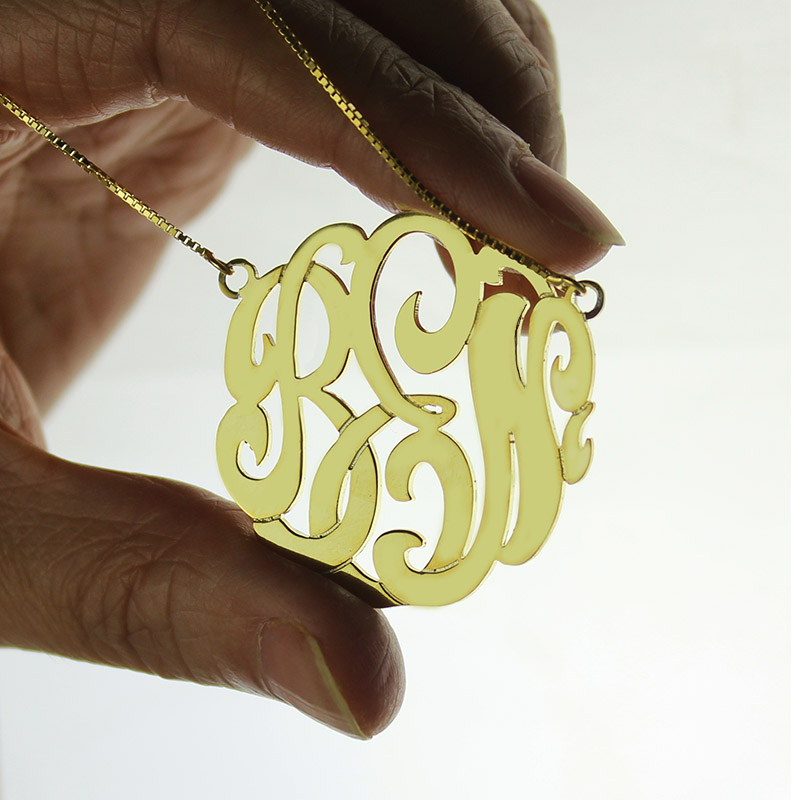 Monogram Necklace Hand-painted