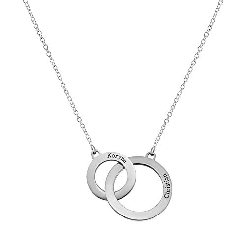 Engravable Discs Necklace in Silver