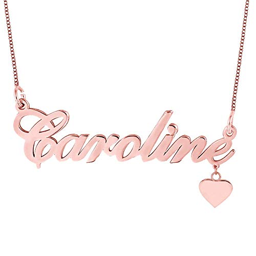 Heart Necklace in Rose Gold Plated Silver