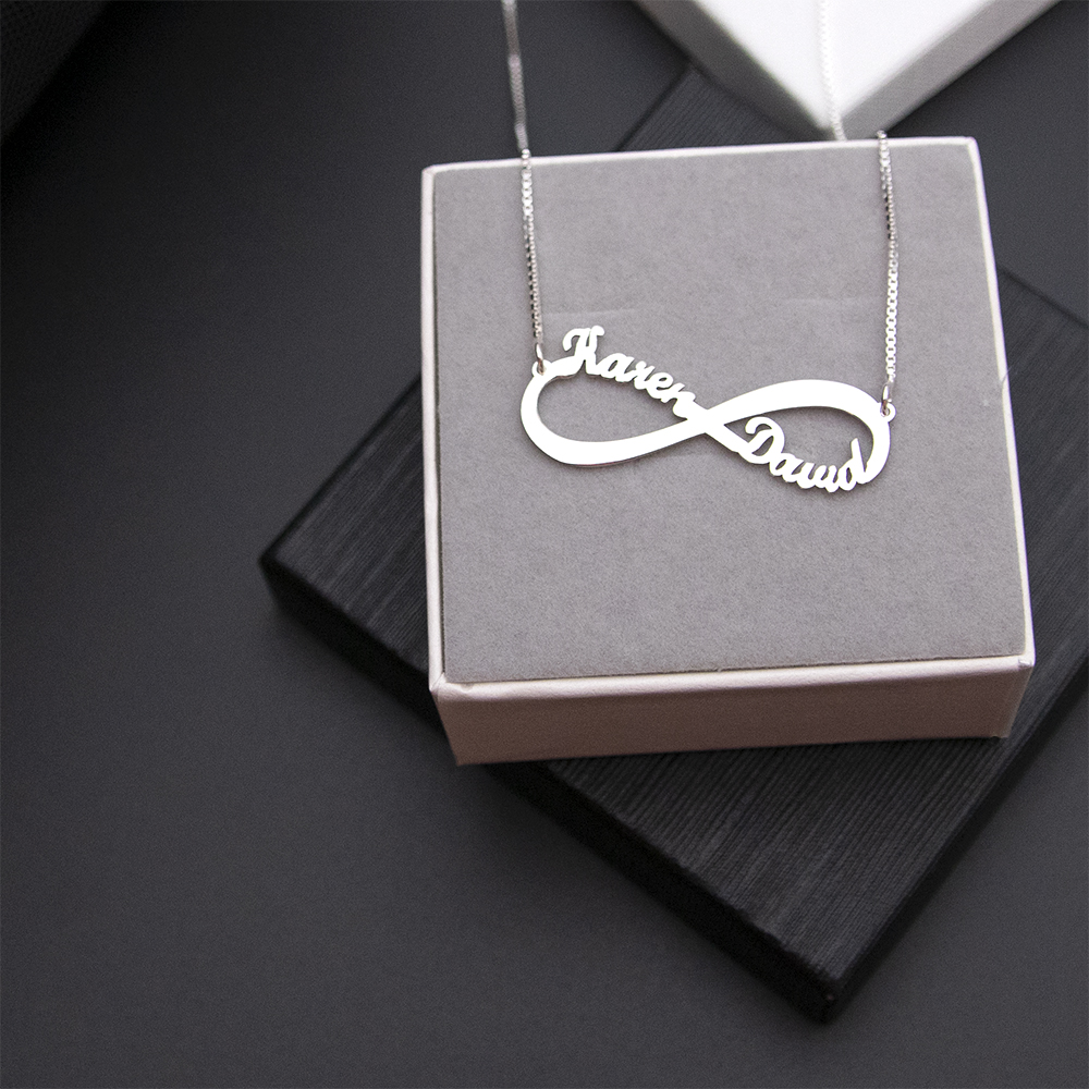 Infinity Necklace Double Name